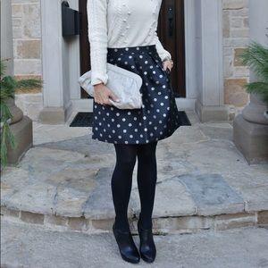 NWT J Crew Factory Silver Dot Jacquard Skirt!